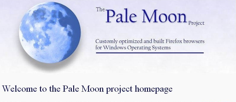 Выпуск браузера Pale Moon 27.0