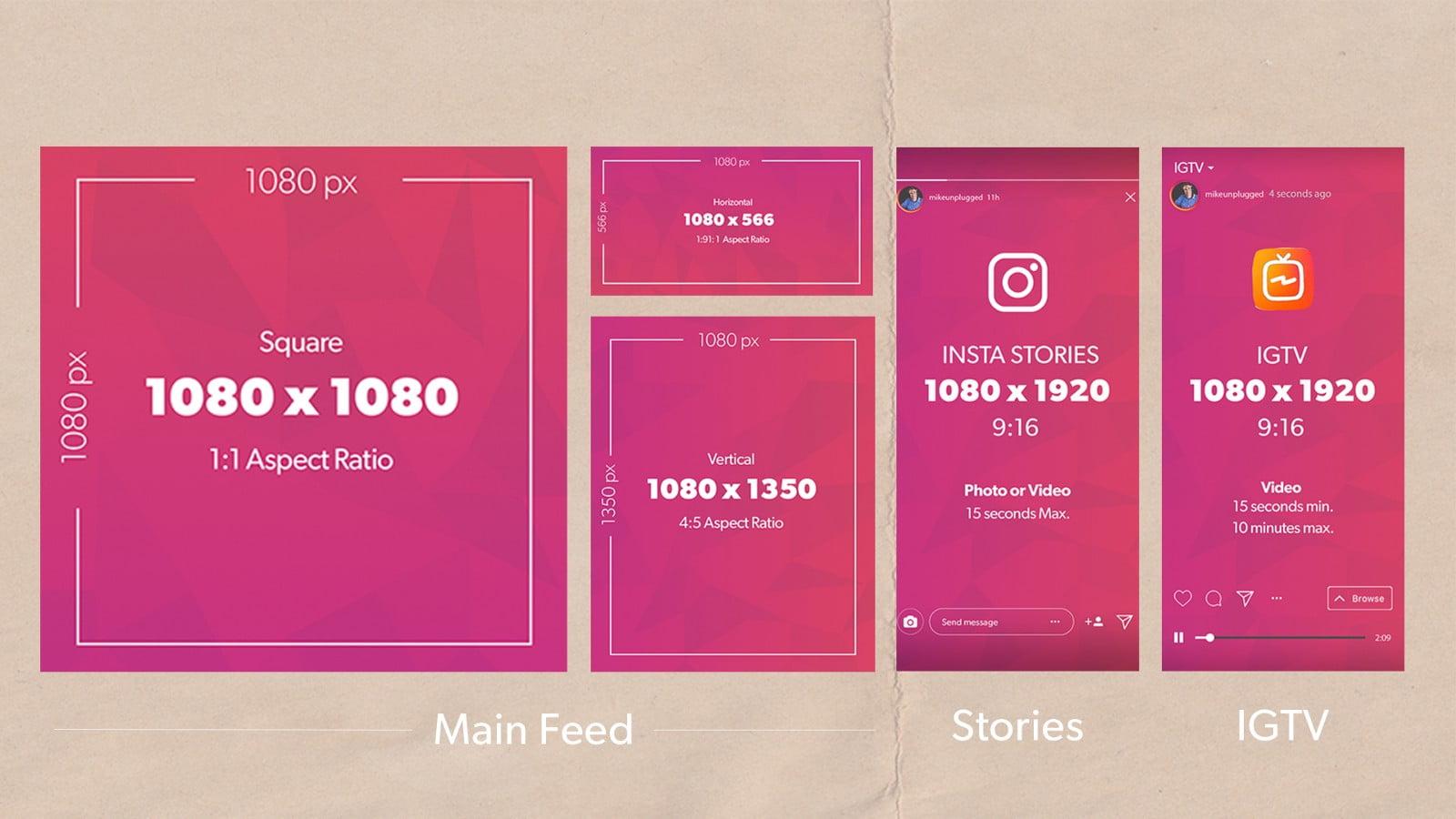 Оптимальный размер фото для постов и сторис в Инстаграм