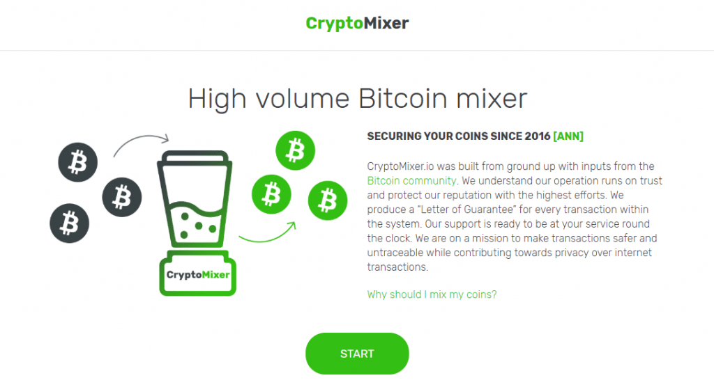 Биткоин миксер CryptoMixer