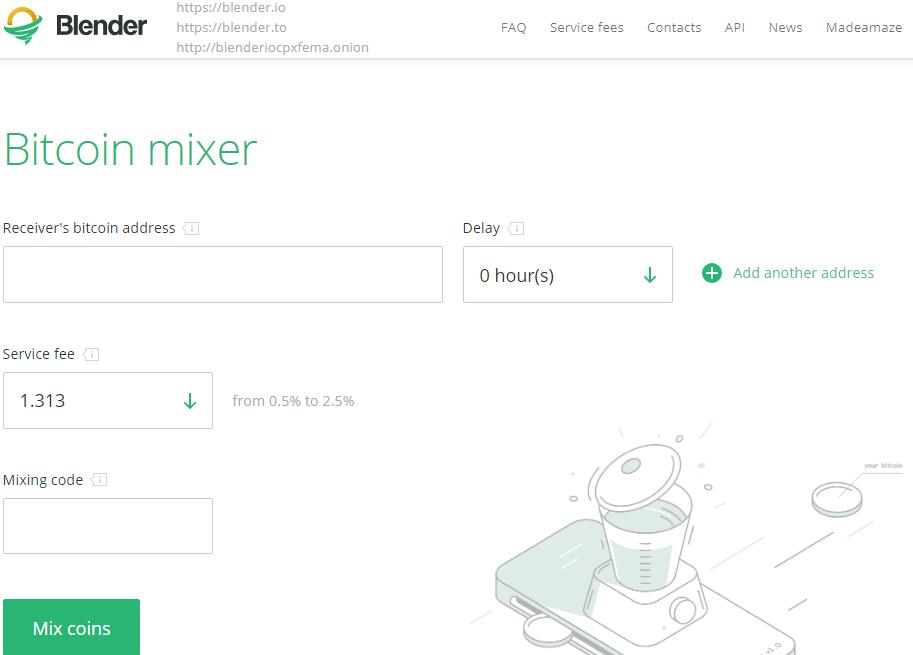 Биткоин миксер Blender.io